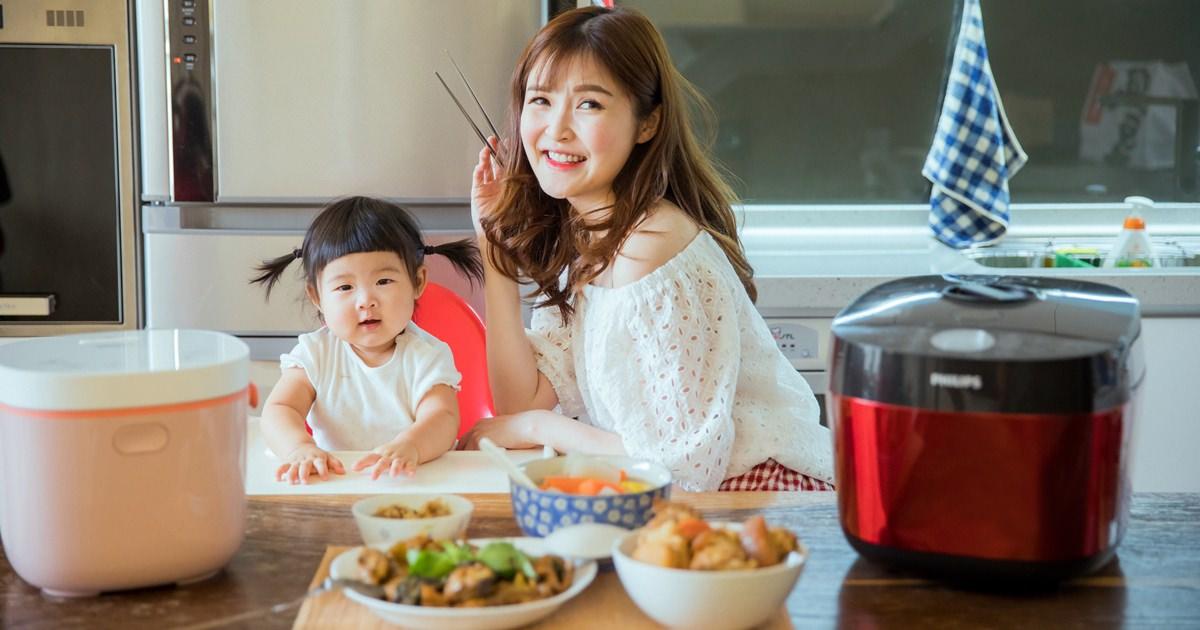 【廚房家電】無油煙!帶小孩也能漂亮做菜 – PHILIPS飛利浦雙重溫控智慧萬用鍋HD2143 + HD3070微電鍋